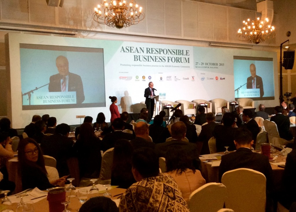 Senator Datuk Paul Low at the ASEAN Responsible Business Forum