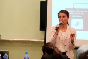 Ms. Andrea Saldarriaga of the LSE during the workshop