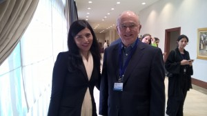 Michelle Staggs Kelsall with Prof John Ruggie